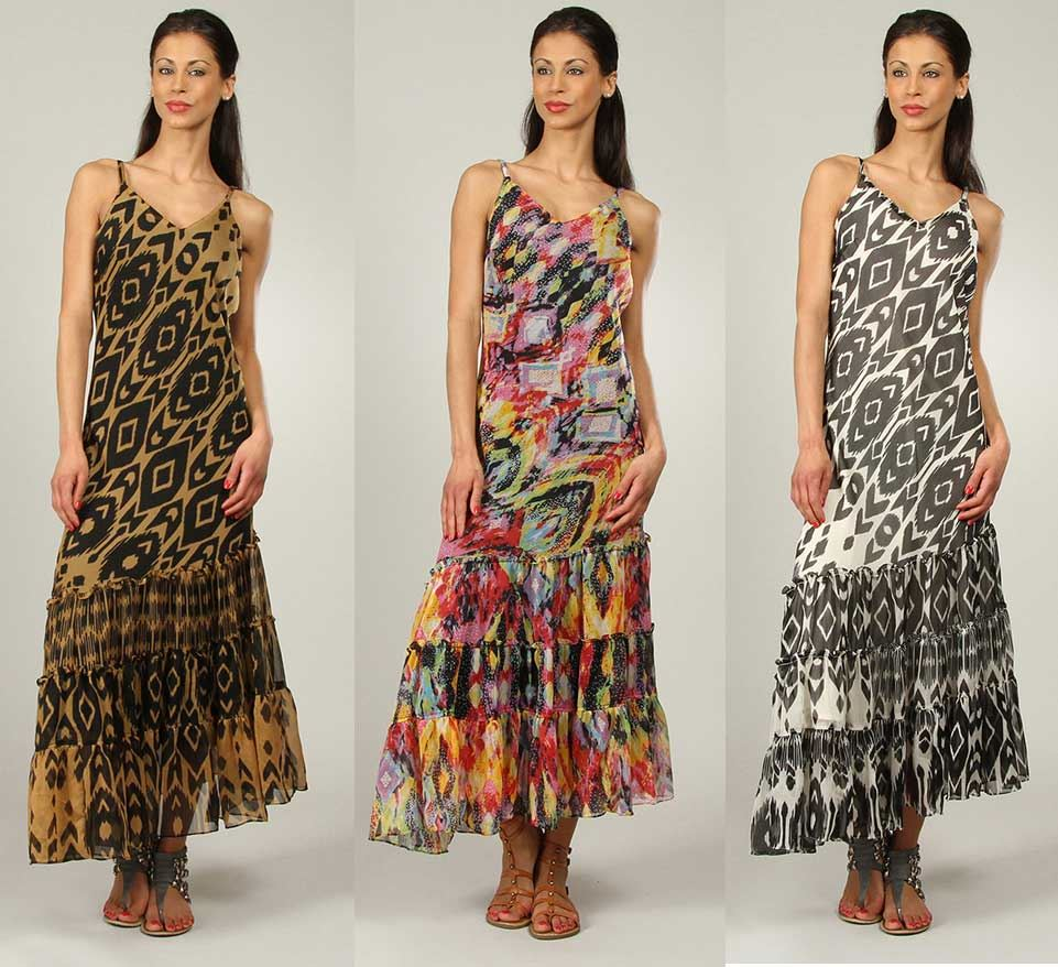 New-Womens-Kushi-Summer-Multi-Holiday-Maxi-Dress-Size-10-22