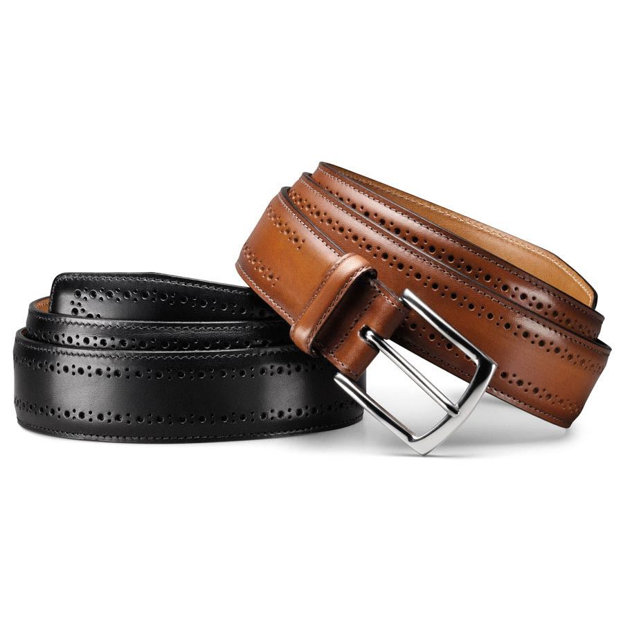 allen edmonds manistee s premium leather dress belt ebay