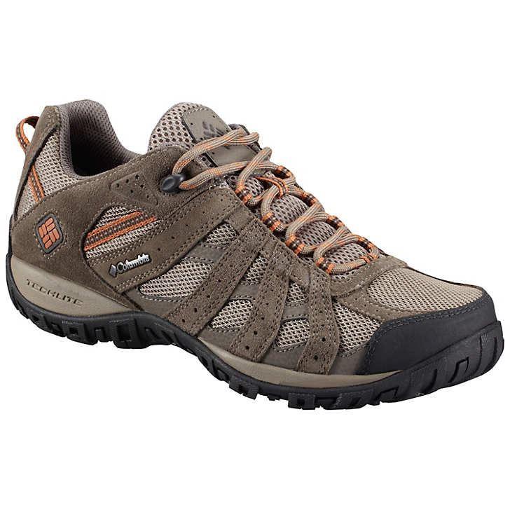 Columbia Men S Redmond Waterproof Hiking Shoes Mud Garnet Red