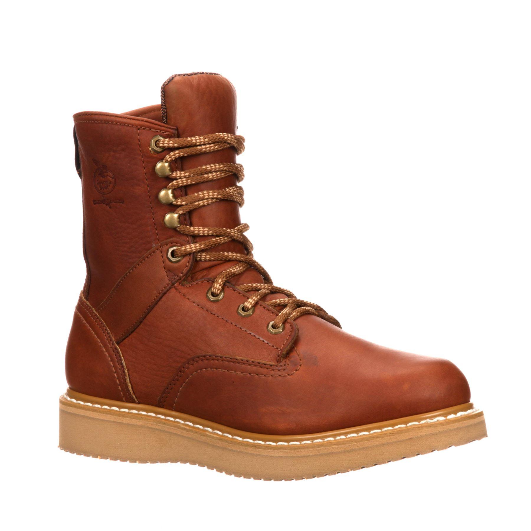 mens steel toe wedge work boots ebay