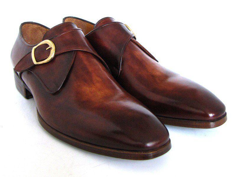 paul parkman s monkstrap dress shoes brown camel id