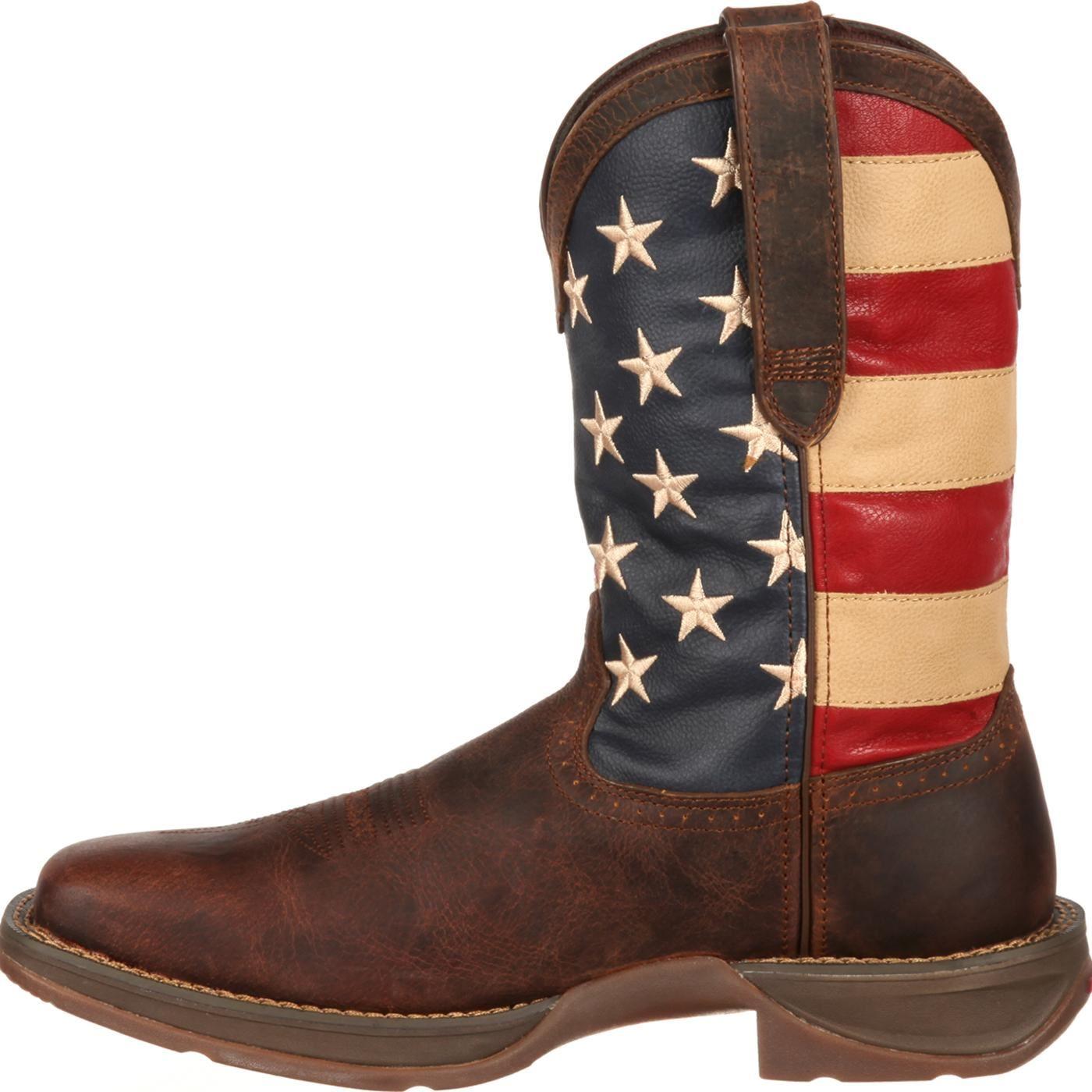 rebel by durango s patriotic pull on western flag boot
