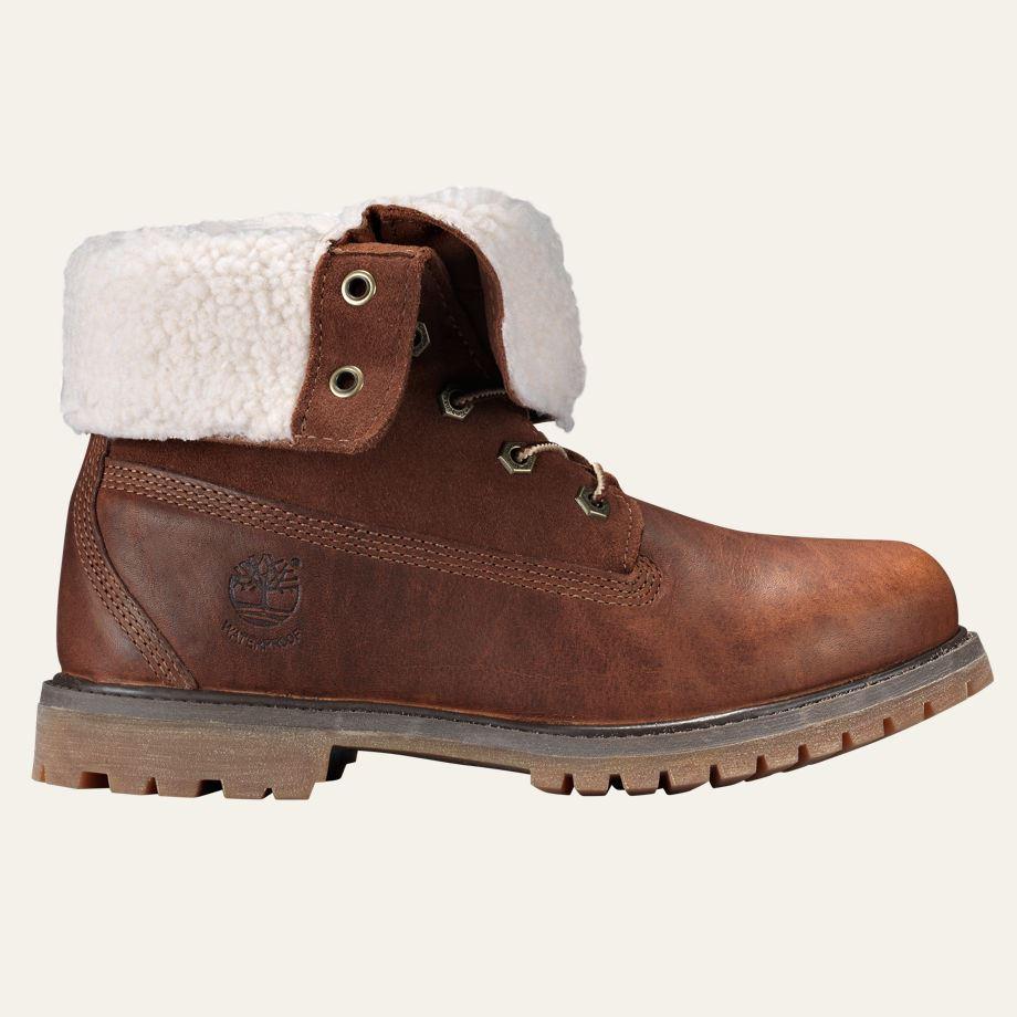 Creative Timberland Authentic Teddy Fleece Fold Down Waterproof Womens Boots