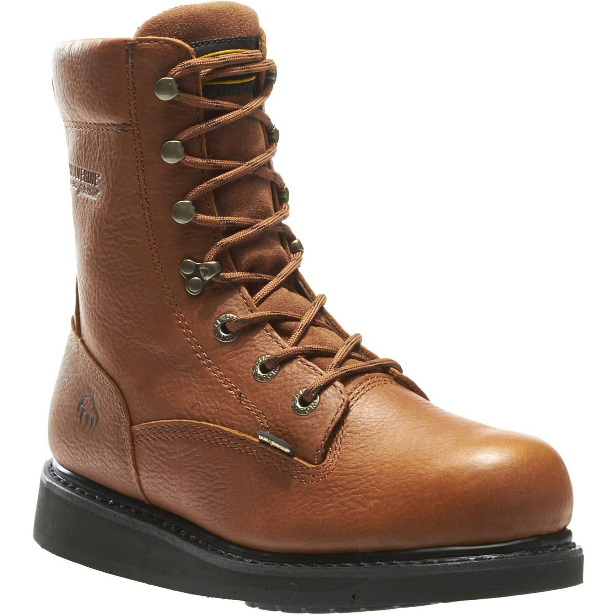 wolverine mens hazard durashocks wedge heel 8 quot work boot