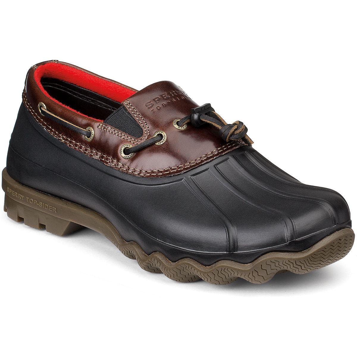 sperry top sider mens avenue slip on duck shoe black