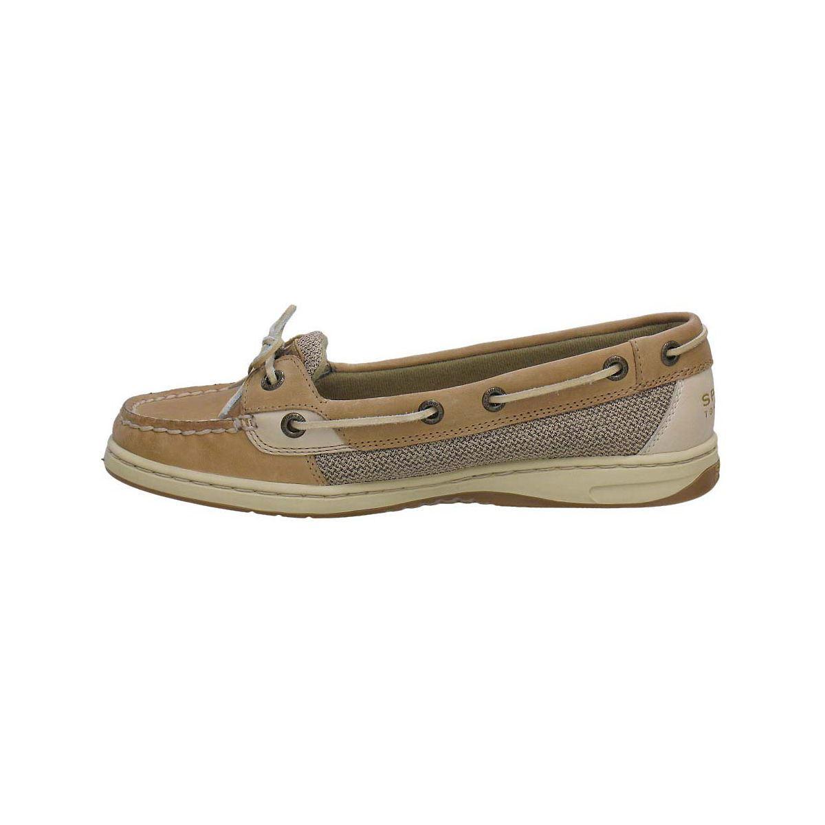 Sperry Womens Angelfish Slip On Boat Shoe Linen Oat 9102047 | EBay