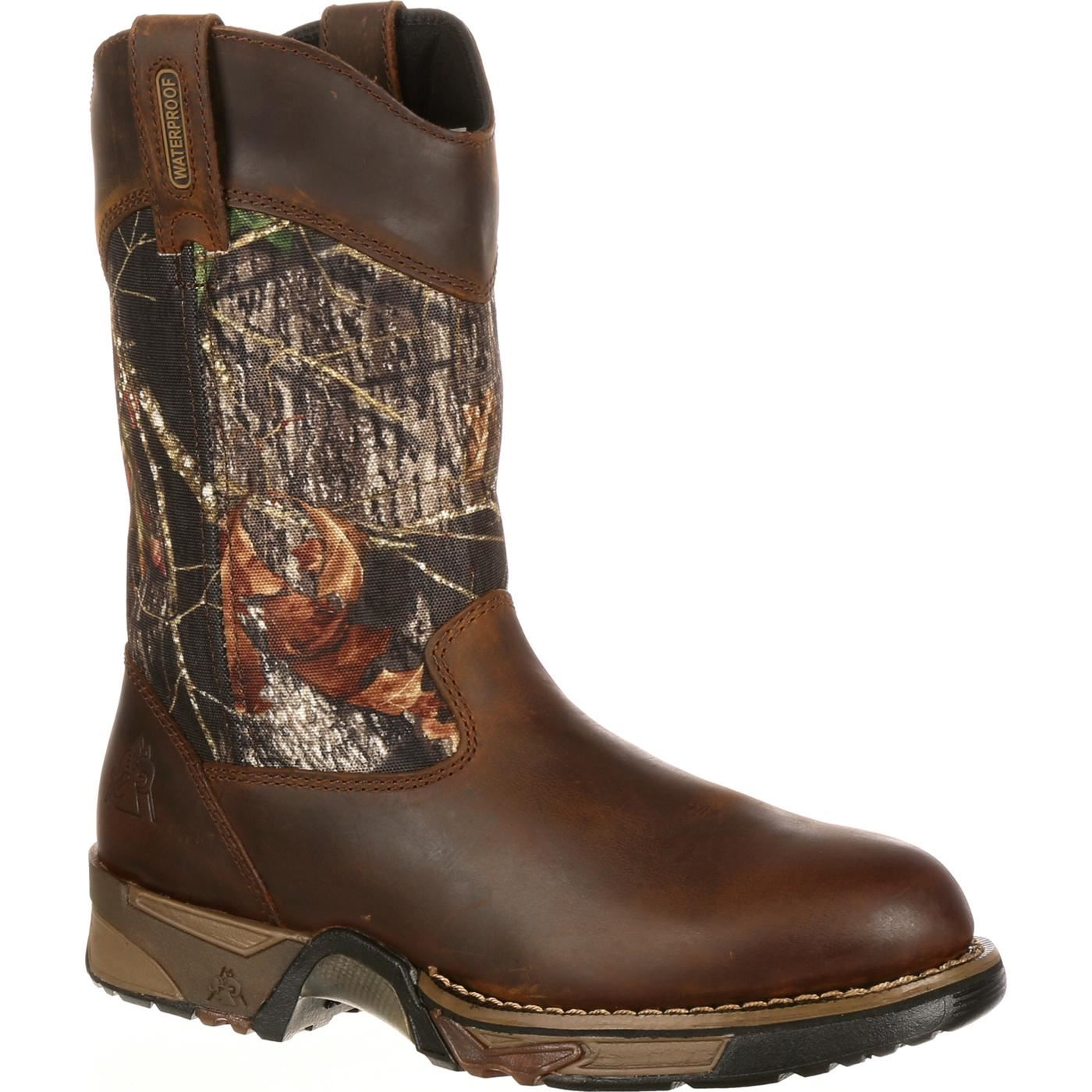 rocky s aztec waterproof camo pull on boots ebay
