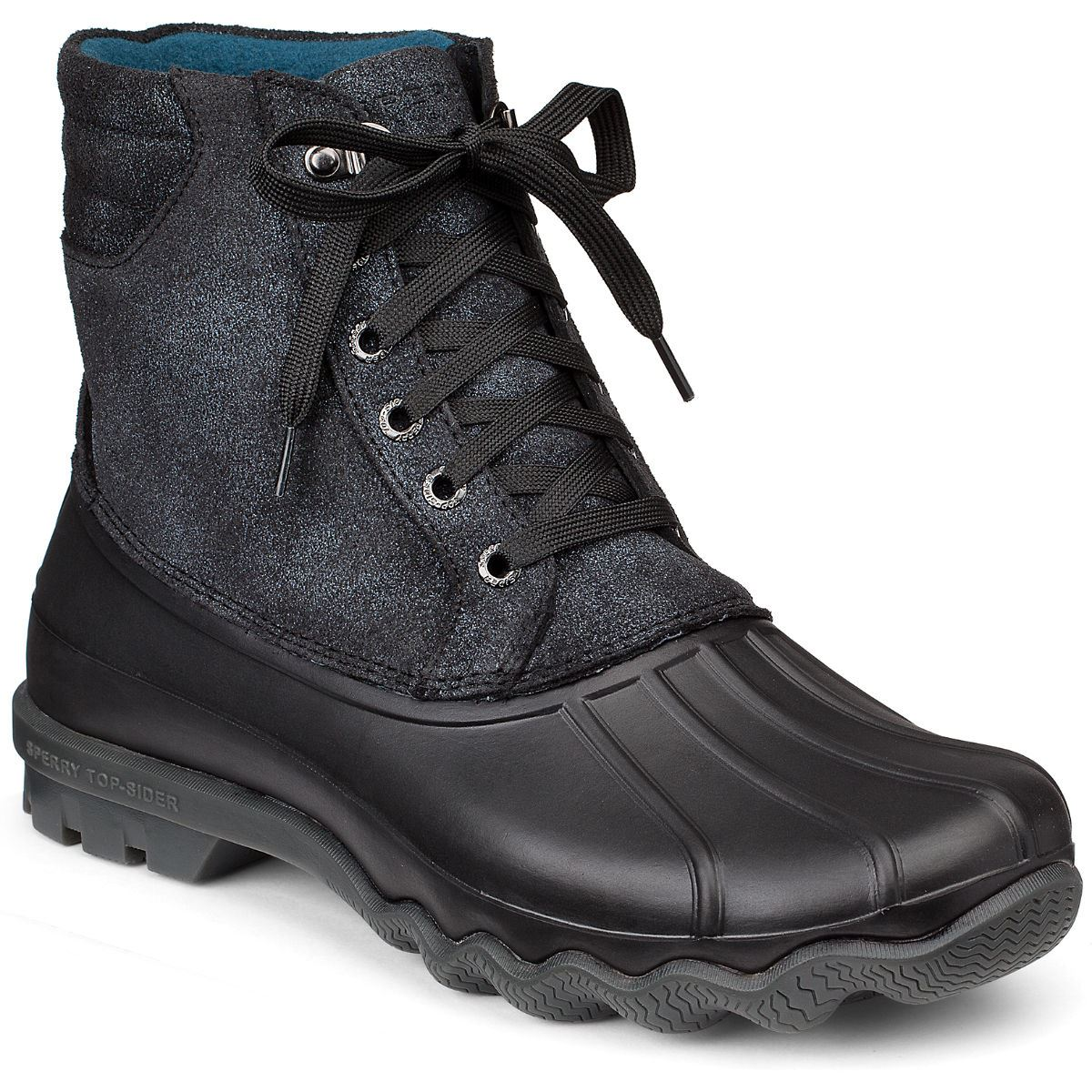 sperry mens avenue duck boot black sts10101 ebay