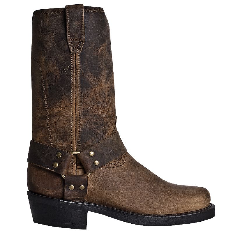 dingo mens dean brown leather harness boot