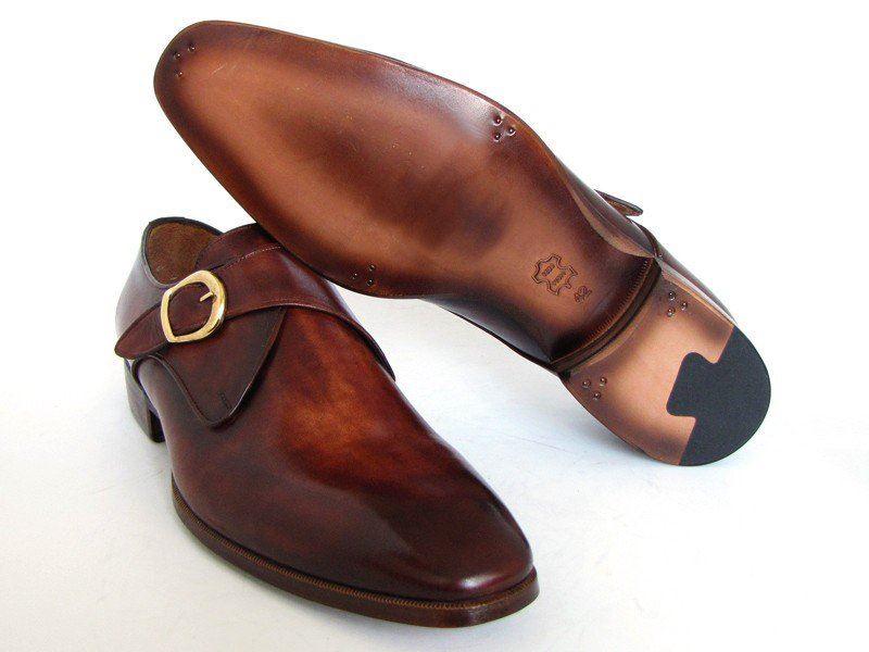 paul parkman s monkstrap dress shoes brown camel made