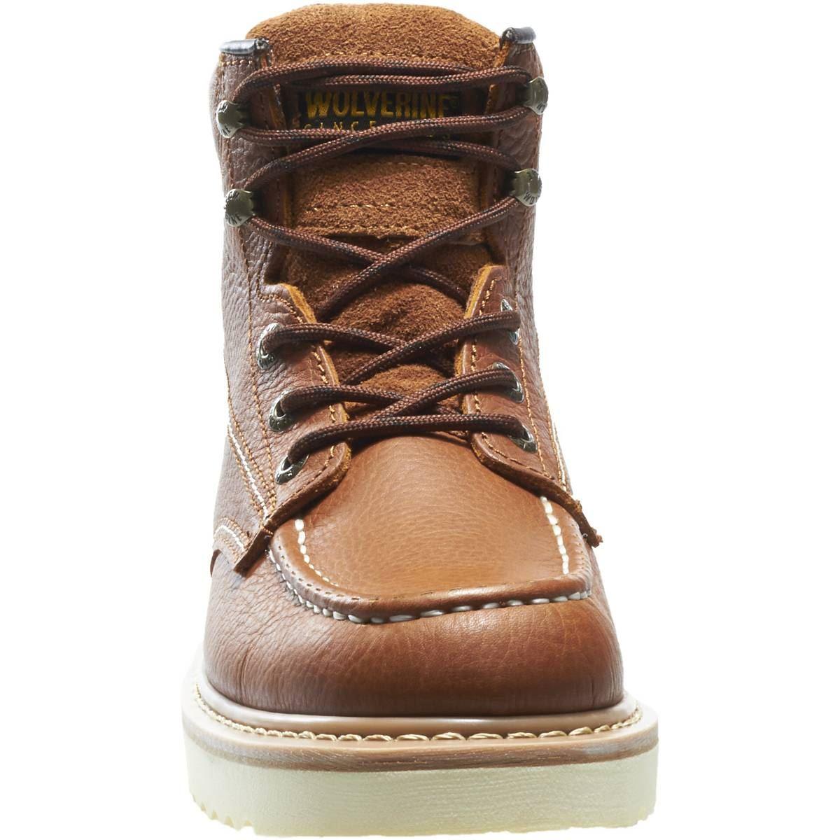 wolverine moc toe wedge heel work boot ebay