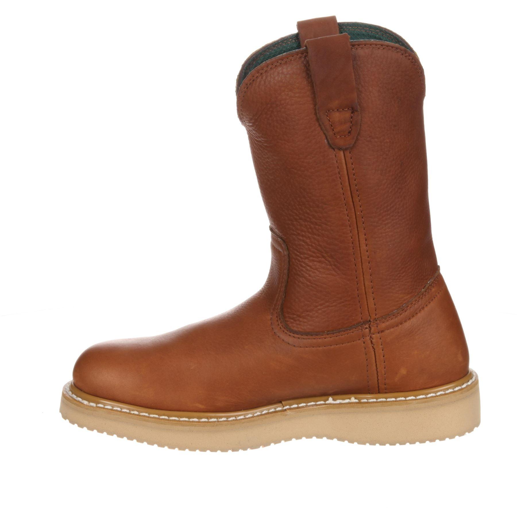 mens steel toe wedge wellington work boot ebay