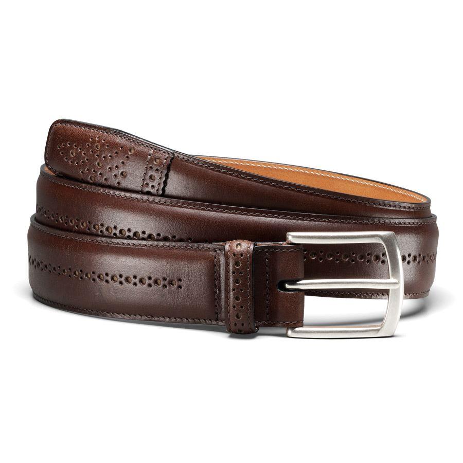 Allen Edmonds Dupont Ave Men's Premium Leather Dress Belt ...