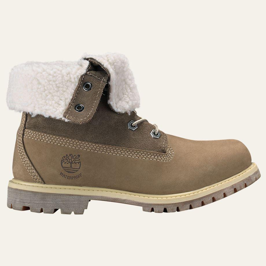 Lastest Timberland Authentics Teddy Fleece Fold Down Waterproof Womens Boots