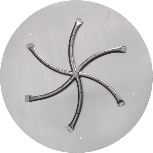 Stainless Steel Rectangle Fire Table - NG