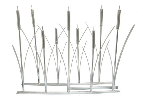 """NG 6"""" x 18"""" Stainless Steel Cat Tail Fireplace Burner"""