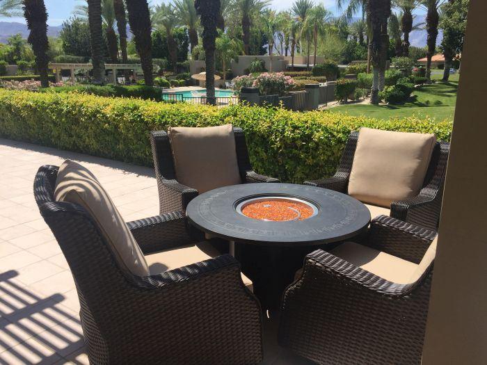 Patio Resort RMDSG5H Rome 5-Piece Fire Chat Set - Canvas Heather Beige