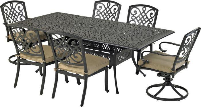 Patio Resort RCDTMN8444-BT1 Bridgetown 7-Piece Dining Set