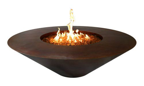 Copper Round Fire Pit - NG By The Outdoor Plus