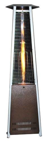 Contemporary Triangle Design Portable Propane Patio Heater-Golden Hammered