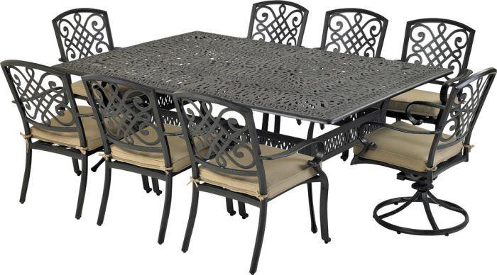 Patio Resort RCDTMN8460-BT3 Bridgetown 9-Piece Dining Set