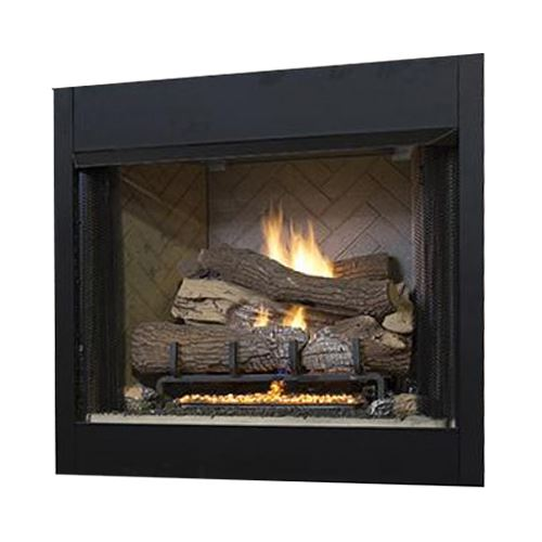 """36"""" Tall Vent-Free Universal Circulating Firebox, White Stacked Liner"""