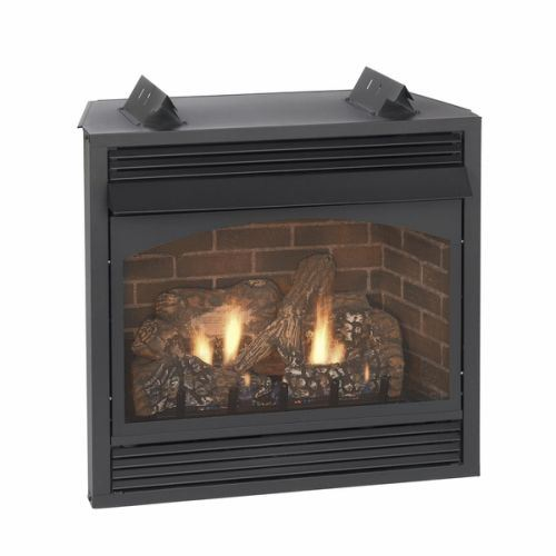 "Vail 36"" Intermittent Vent-Free Premium Fireplace with Blower - NG"