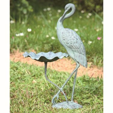Crane Birdbath 33086 By Spi Home