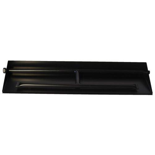 """27"""" Powder Coated Dual Burner Pan For 30"""" Log Set"""