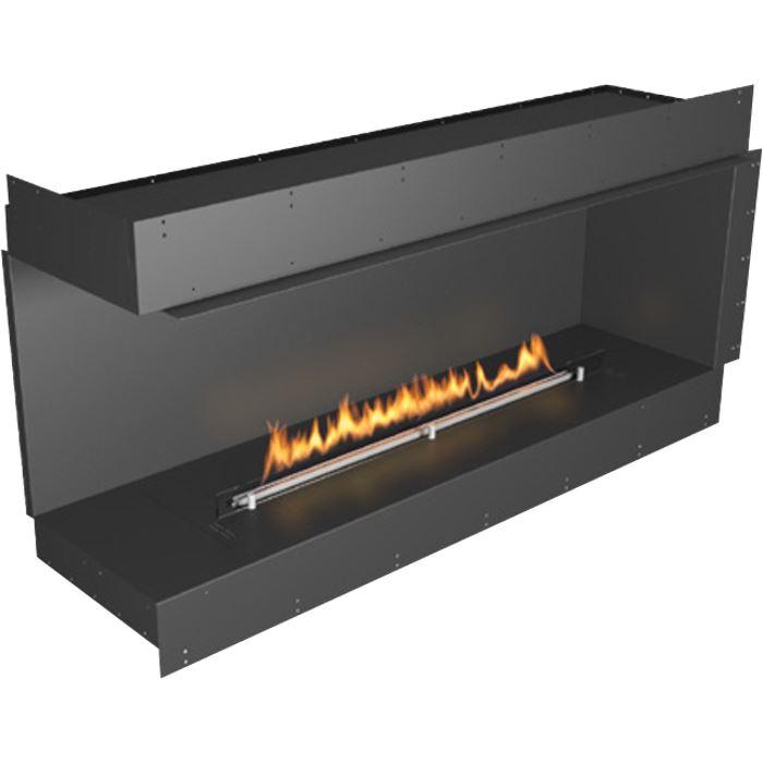 Planika Forma 60 in indoor Left Corner Fireplace With 47 in FLA Burner