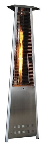 Contemporary Triangle Design Portable Propane Patio Heater -Stainless Steel