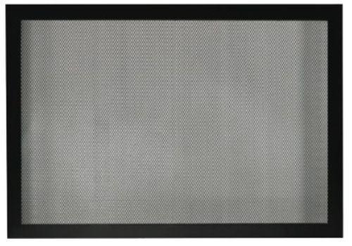 """Fireplace Tall 36"""" Barrier Screen - Matte Black"""