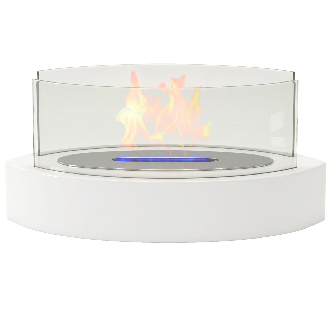 Regal Flame ET7013WHT Veranda Tabletop Portable Bio Ethanol Fireplace in White