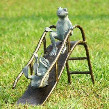 Sliding Frogs Garden Sculpture