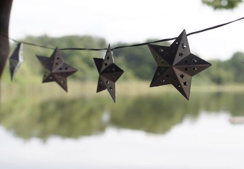 Metal Star Solar String Light By Smart Solar