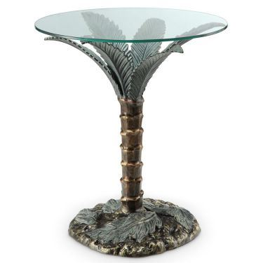 Palm Tree End Table 33919 By Spi Home