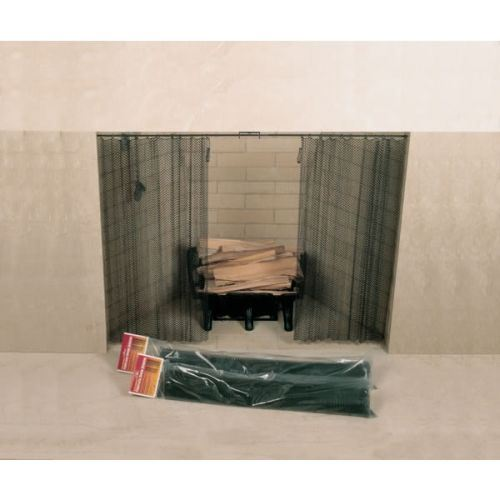 """48"""" X 24"""" Woodfield Hanging Fireplace Spark Screen"""