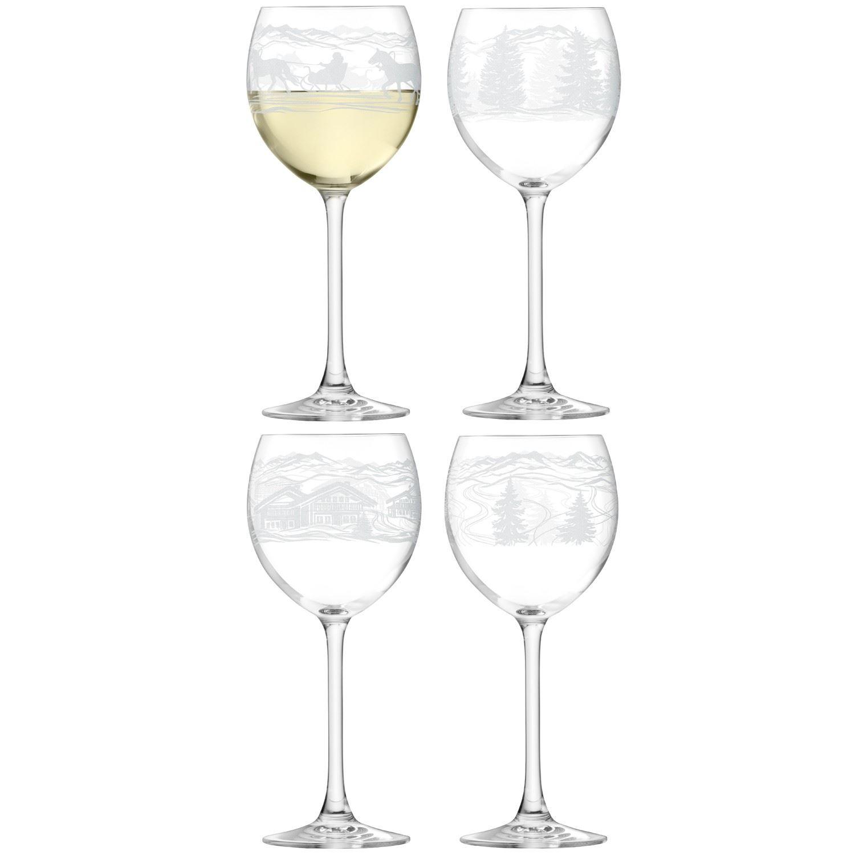 Lsa tirol etched christmas vodka lantern champagne wine for Holiday stemware