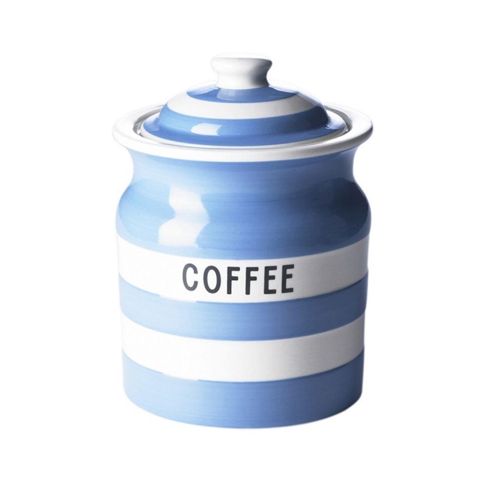 cornishware blue or red white stripe tea coffee or. Black Bedroom Furniture Sets. Home Design Ideas