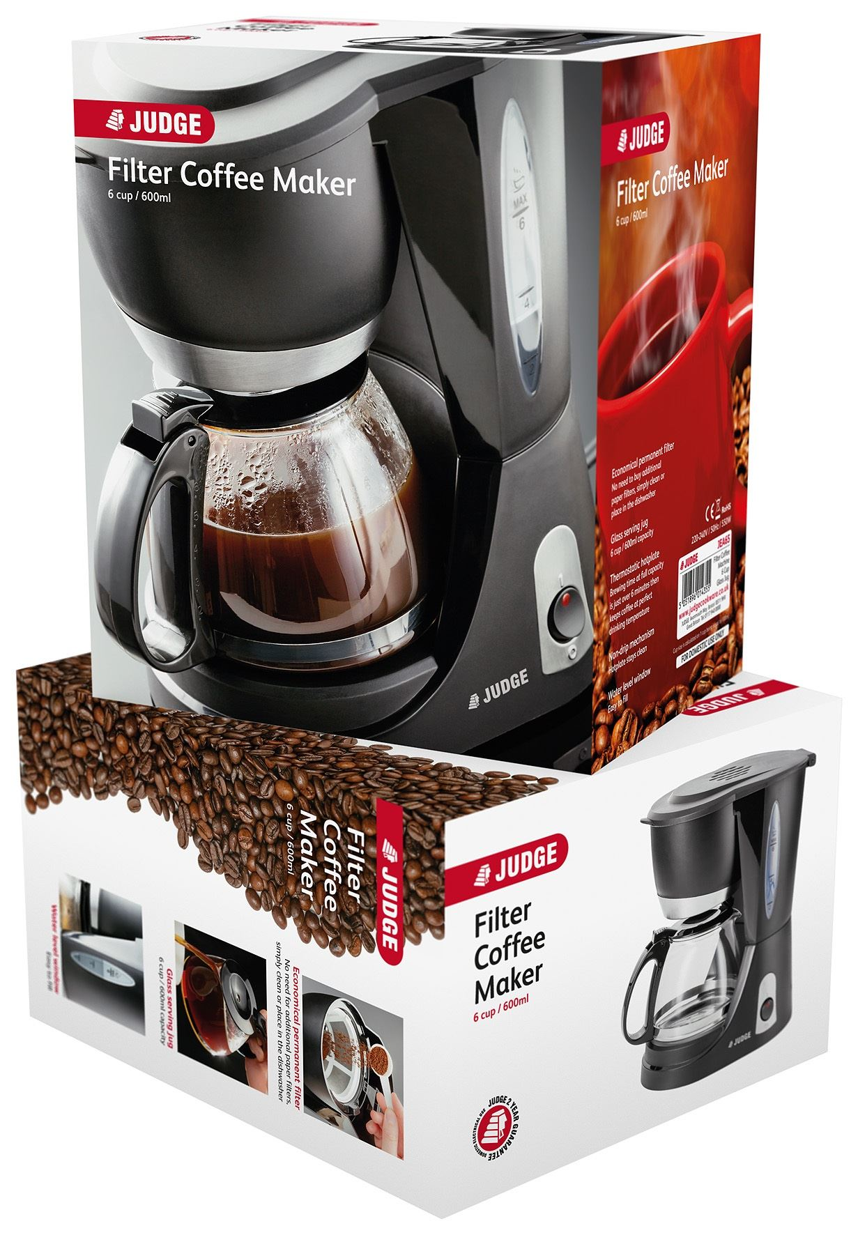 Judge 6cup/600L Electric Filter Coffee Maker with Glass Pot - 700W- JEA65 eBay