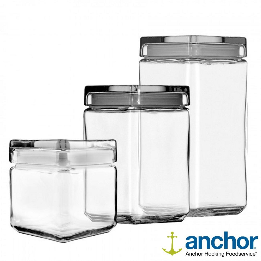 Anchor Hocking Square Glass Storage Containers