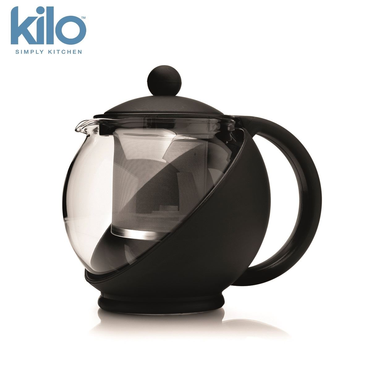 Kilo glass teapot tea pot with infuser cup or ebay