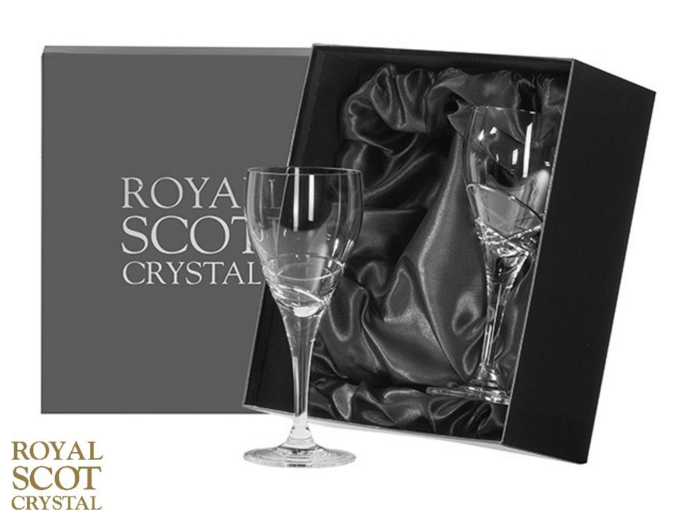 royal scot crystal skye set of 2 small or large crystal wine glasses ebay. Black Bedroom Furniture Sets. Home Design Ideas