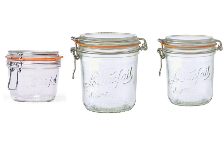 le parfait super terrine preserving jars 125 200 250 275 350 500 750 or 1l ebay. Black Bedroom Furniture Sets. Home Design Ideas