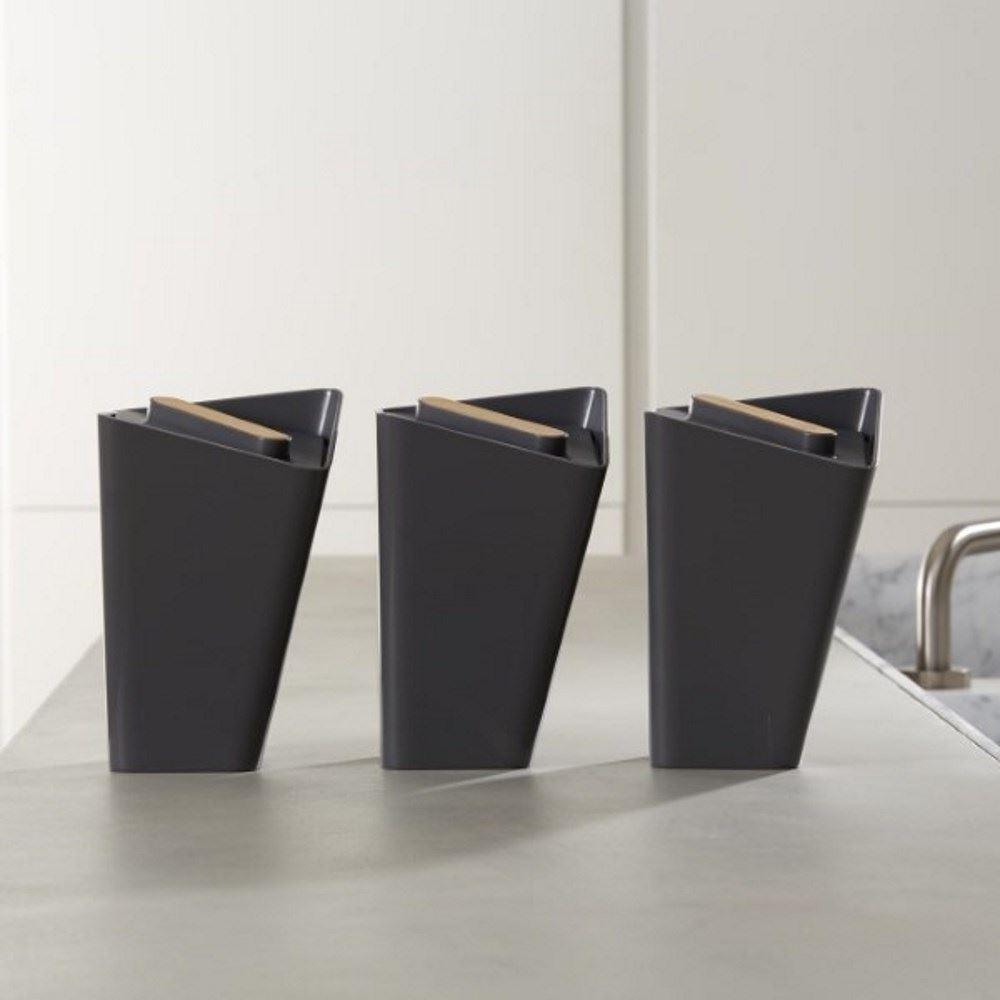black blum forminimal storage jar canister set of 3 in white or grey ebay. Black Bedroom Furniture Sets. Home Design Ideas