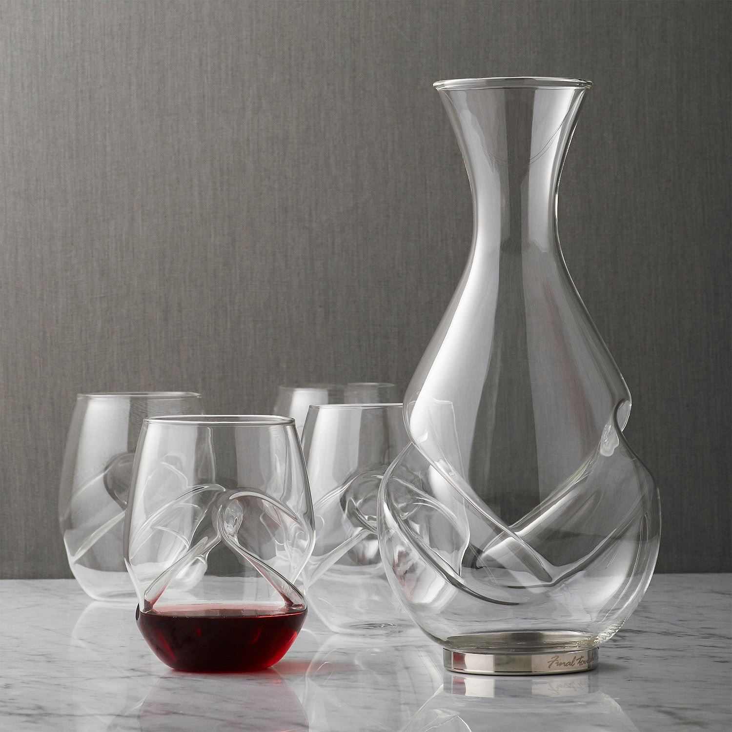 final touch conundrum glass aerator decanter carafe 375ml or 750ml ebay. Black Bedroom Furniture Sets. Home Design Ideas