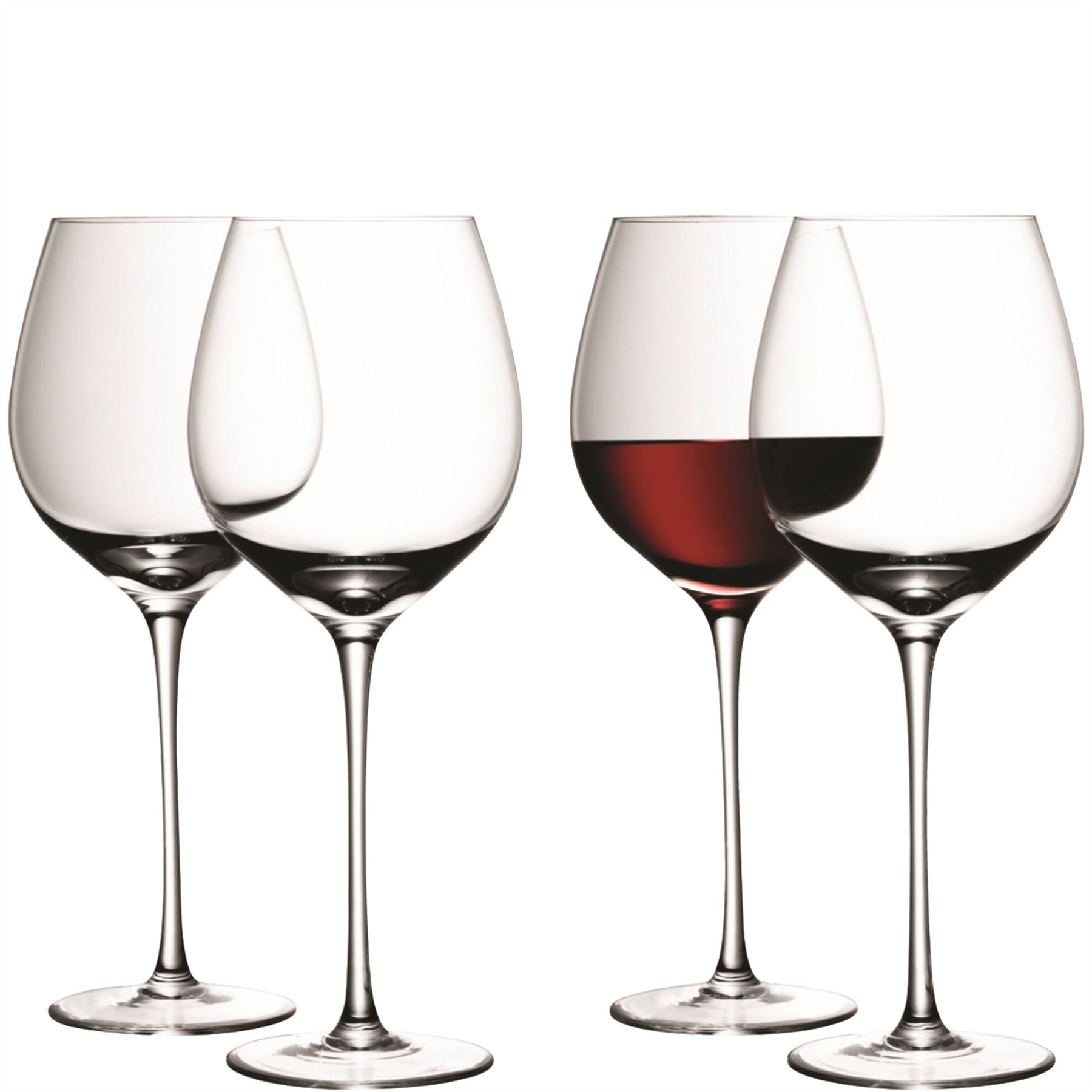 Lsa glass red or white wine glasses goblets stemless - Stemless wine goblets ...