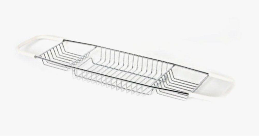 delfinware porte savon grille gouttoir baignoire douche acier inox plastifi ebay. Black Bedroom Furniture Sets. Home Design Ideas