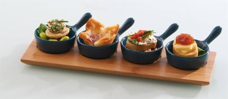 Typhoon tasting sets for appetisers canapes desserts mini for Canape serving dishes