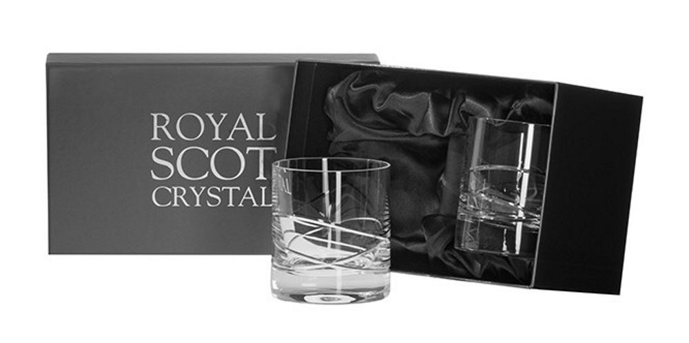 royal scot crystal skye set of 2 crystal 14oz tall hi ball whiskey tumblers ebay. Black Bedroom Furniture Sets. Home Design Ideas